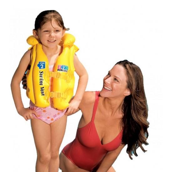 Детска спасителна жилетка Жълта 50х47см 58660EU Intex