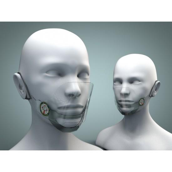Предпазна прозрачна маска (материал - PET)