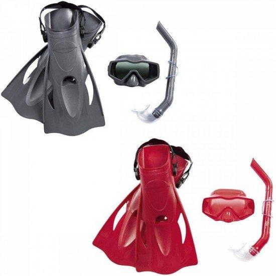 Комплект за плуване - маска, шнорхел и плавници Bestway 25031