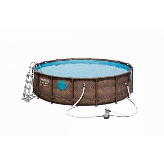 Сглобяем басейн Power Steel Vista 488x122см имитация ратан Bestway 56725