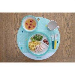 Комплект за хранене бамбук - blue