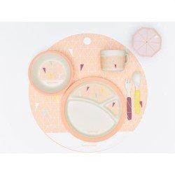 Комплект за хранене бамбук - pink