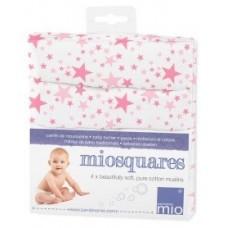 Bambino Mio Марлени кърпи – 4 броя - Розови звезди