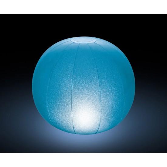 Многоцветна плаваща LED топка INTEX за басейни и джакузита