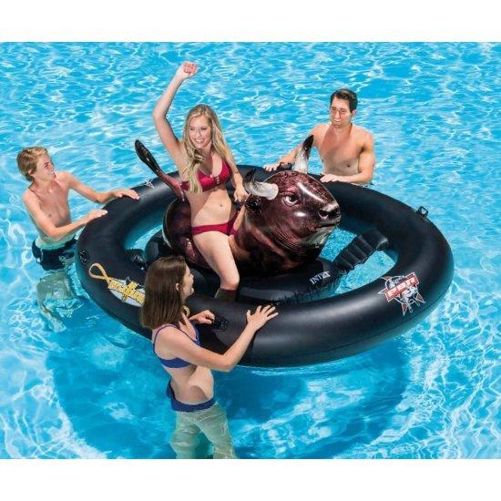 Забавен надуваем остров - Плаващ бик INTEX