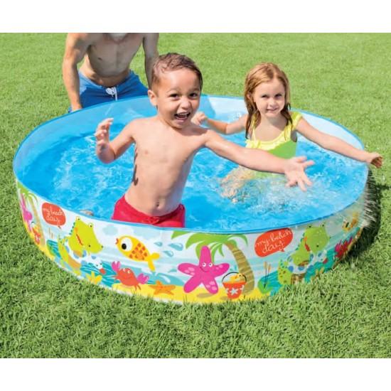 Надуваем басейн с твърд борд 152x25см 56451NP Intex