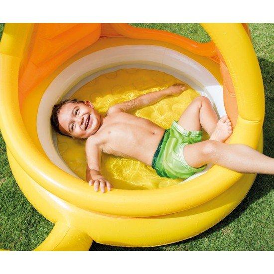 Бебешки надуваем басейн със сенник INTEX - Охлювче