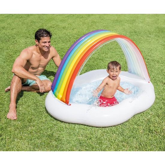 Бебешки надуваем басейн със сенник Дъга INTEX