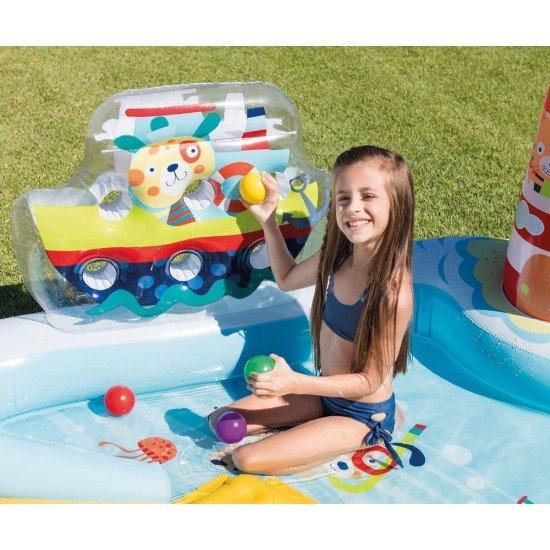 Надуваем забавен център с пързалка INTEX - Забавен риболов