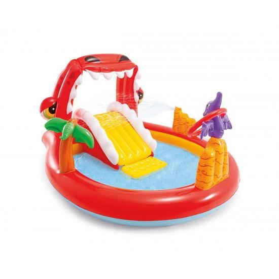 Надуваем център за игра с пързалка Динозаври INTEX