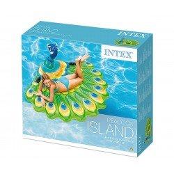 Надуваем остров Паун INTEX