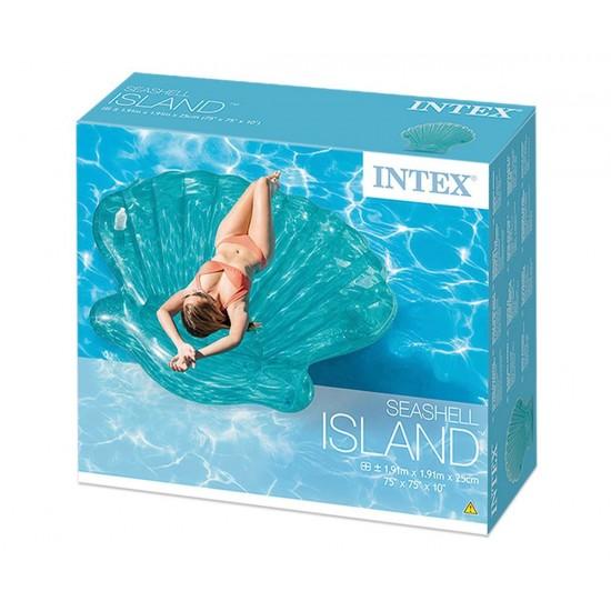 Надуваем остров Раковина INTEX