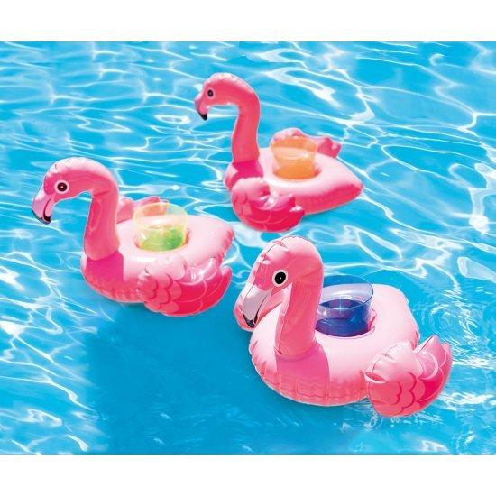 Надуваема поставка за чаша Фламинго INTEX, 3 бр.