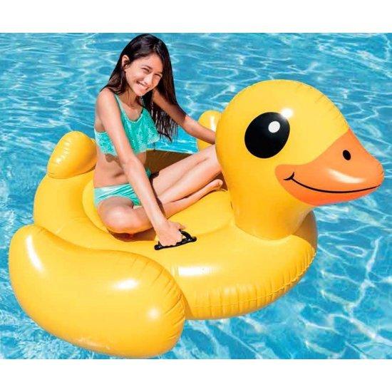Надуваем остров Пате INTEX Yellow Duck Ride-on