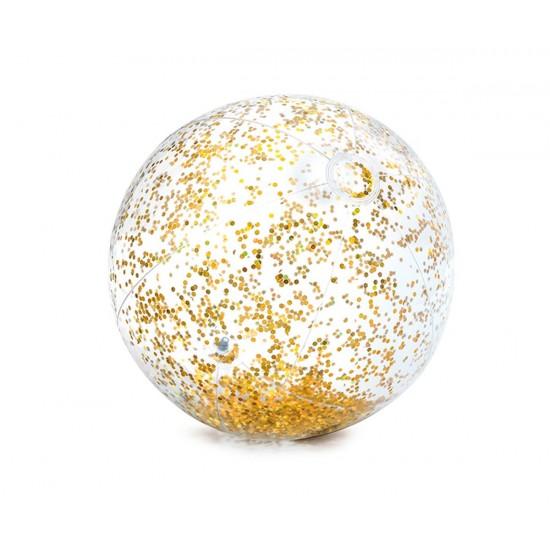 Надуваема топка с брокат INTEX Transperent Glitter, 2 цвята