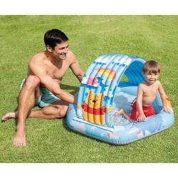 Бебешки надуваем басейн със сенник Мечо Пух INTEX
