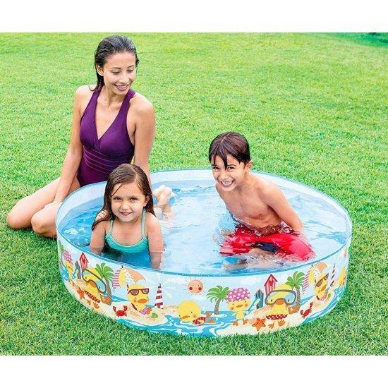 Детски басейн с твърд борд Duckling Snapset INTEX