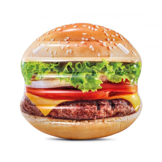 Надуваем остров Хамбургер INTEX