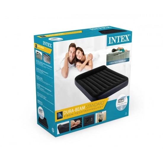 Надуваем матрак с вградена помпа INTEX Pillow Rest Classic, 152 х 203 х 25 см.