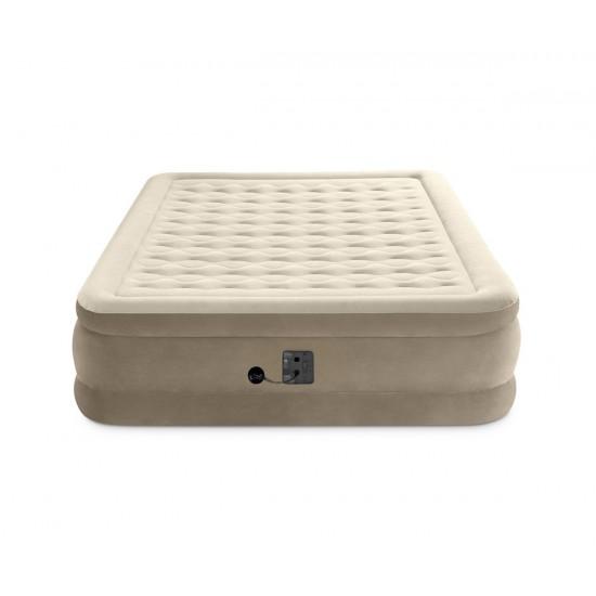 Надуваем матрак 152х203х46см с вградена помпа INTEX Ultra Plush