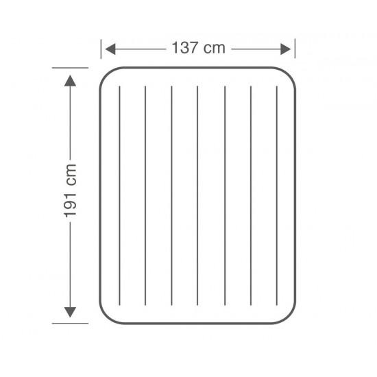 Надуваем матрак 137х191х25см INTEX Classic Downy