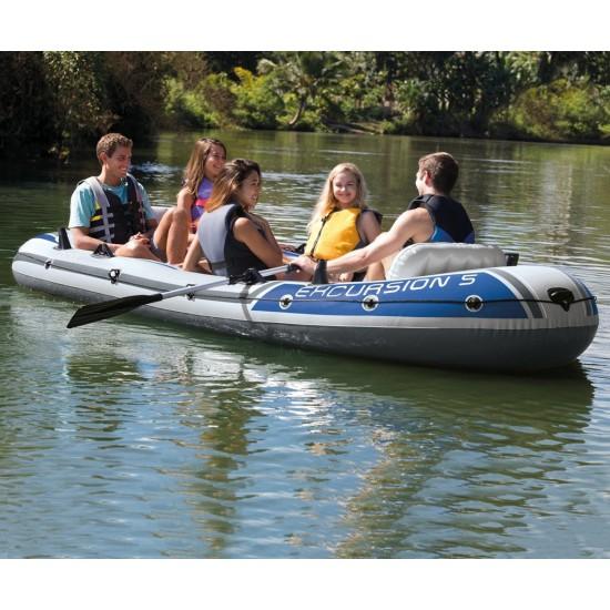 Надуваема лодка с принадлежности Excursion 5 Intex