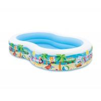 Детски надуваем басейн с твърд борд PARADISE 262Х160Х46см 56490NP Intex