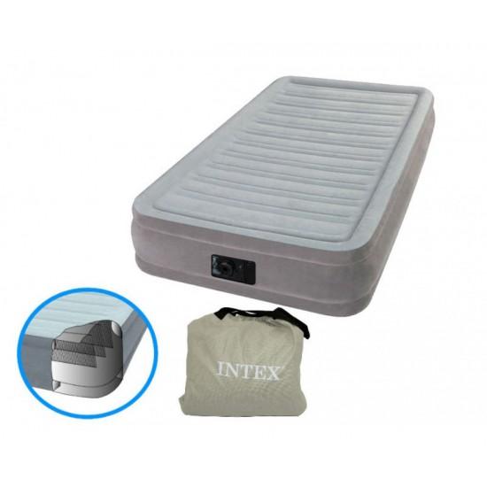 Надуваем матрак с вградена помпа INTEX Twin Comfort