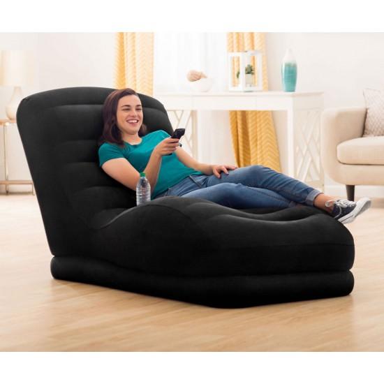 Надуваем ергономичен фотьойл INTEX Mega