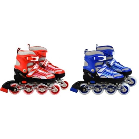 Ролери регулируеми 28 - 33 номер със светещи колела