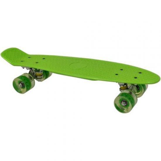 Скейтборд мини, пениборд със светещи колела MAXIMA, 56 см Зелен