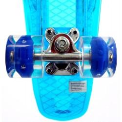 Скейтборд мини, пениборд (56 см) с LED светлини на дъската и колелата
