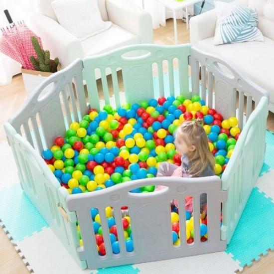 Топки за басейн и игра, 6.5 см, 28 броя в комплект, В мрежа