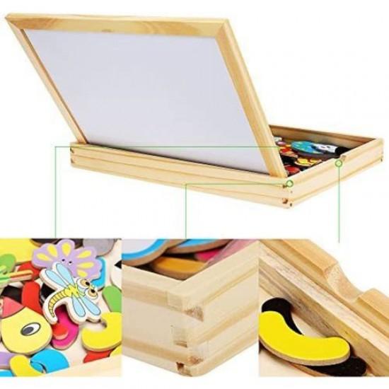 Дървена магнитна дъска в кутия