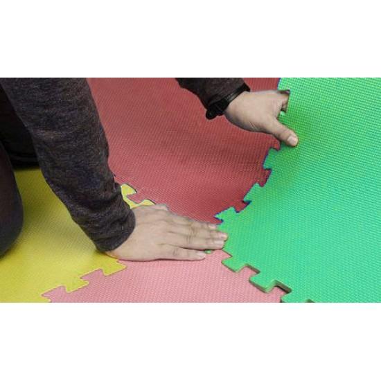 Настилка ЕVA 58.5х58.5х0.8 см, 4 броя комплект, Розов, Жълт, Зелен, Червен - 30000205