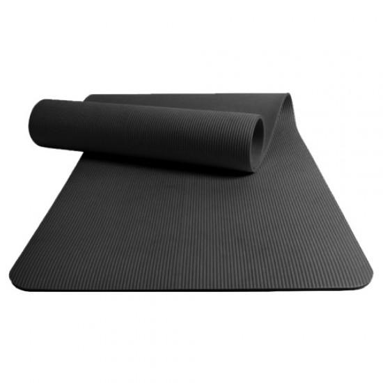 Постелка за гимнастика, NBR, Черна