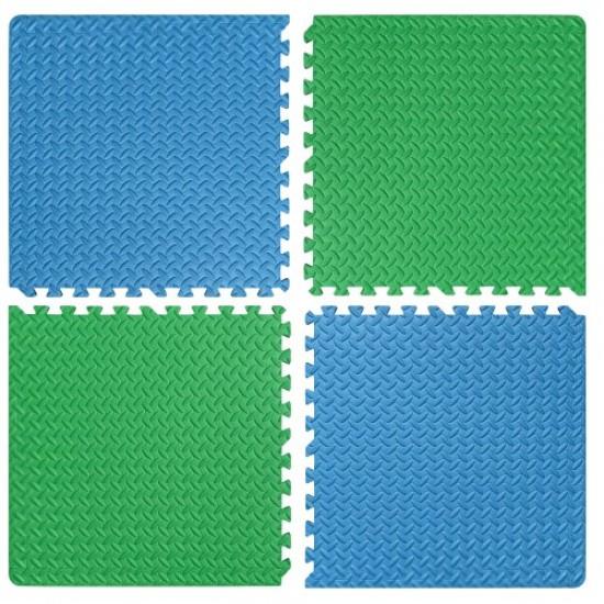 Настилка ЕVA,  4 броя в комплект, 2 зелени, 2 сини