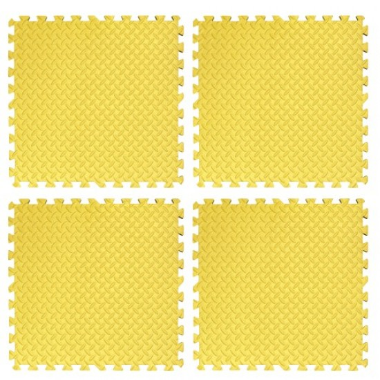 Настилка ЕVA,  4 броя в комплект, 4 жълти