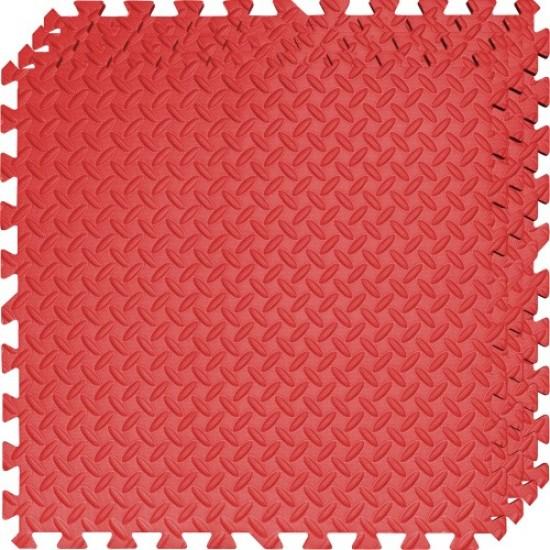 Настилка ЕVA, 4 броя в комплект, 4 червени