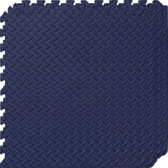 Настилка ЕVA, 4 броя в комплект, 4 тъмносини