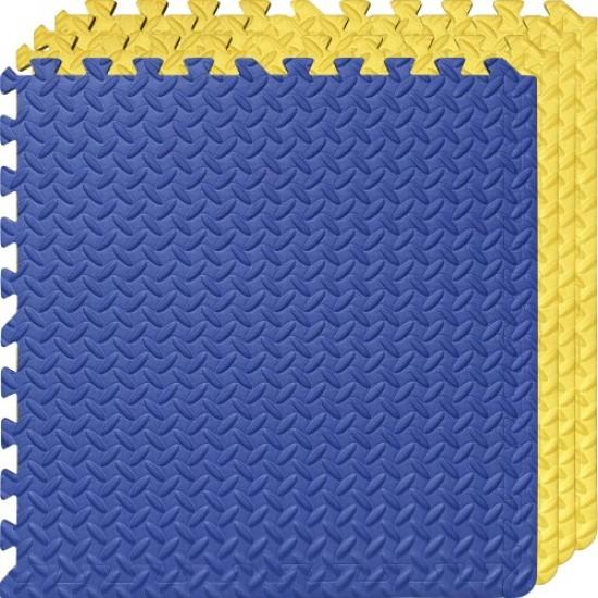 Настилка ЕVA,  4 броя в комплект, 3 жълти, 1 син