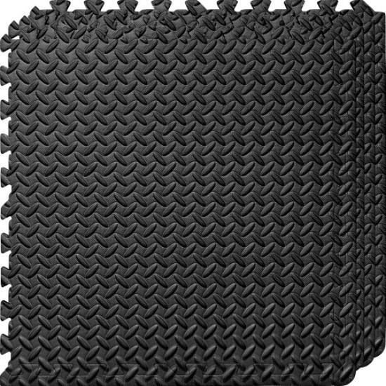Настилка ЕVA, 4 броя в комплект, 4 черни