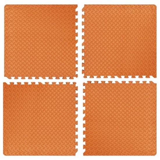 Настилка ЕVA, 4 броя в комплект, 4 оранжеви