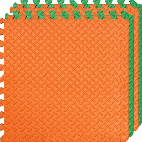 Настилка ЕVA, 4 броя в комплект, 2 зелени, 2 оранжеви