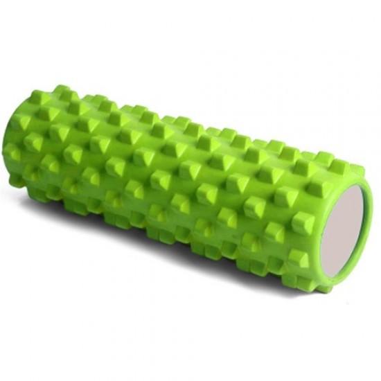 Фоумролер за пилатес и йога, С грайфери за масажи, Зелен