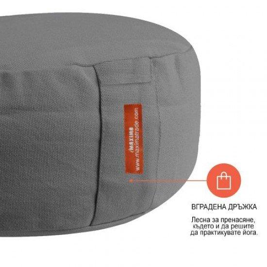 Възглавница за медитация кръгла - MAXIMA, Сив, 33x33x16