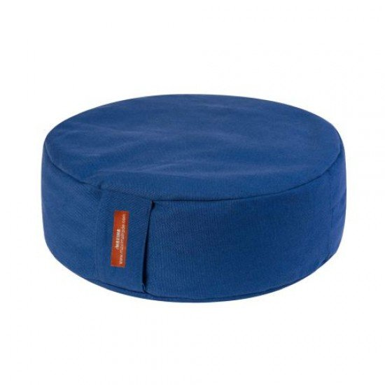 Възглавница за медитация кръгла MAXIMA, Син, 33x33x16