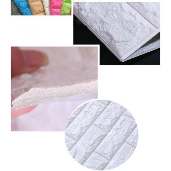 Декоративен 3D панел за стена 70х77 см, СЗЛ, Бял - 51000202