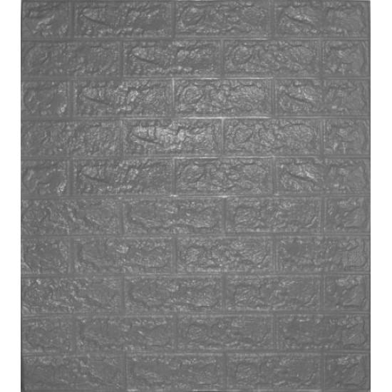 Декоративен 3D панел за стена 70х77 см, СЗЛ, Сив - 51000203