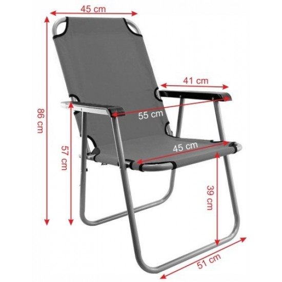Сгъваем стол, Червен